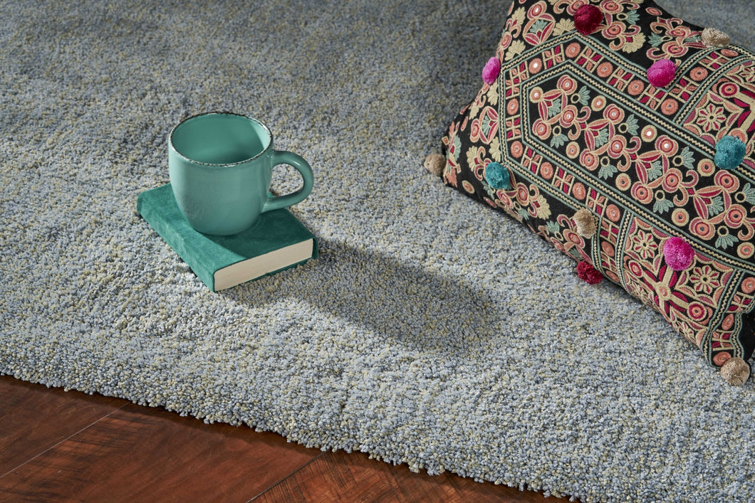 3' x 5' Polyester Blue Heather Area Rug