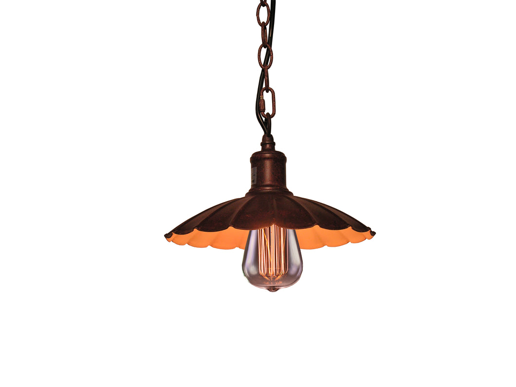 Lindsey 1-light Bronze 10-inch Edison Chandelier with Bulb