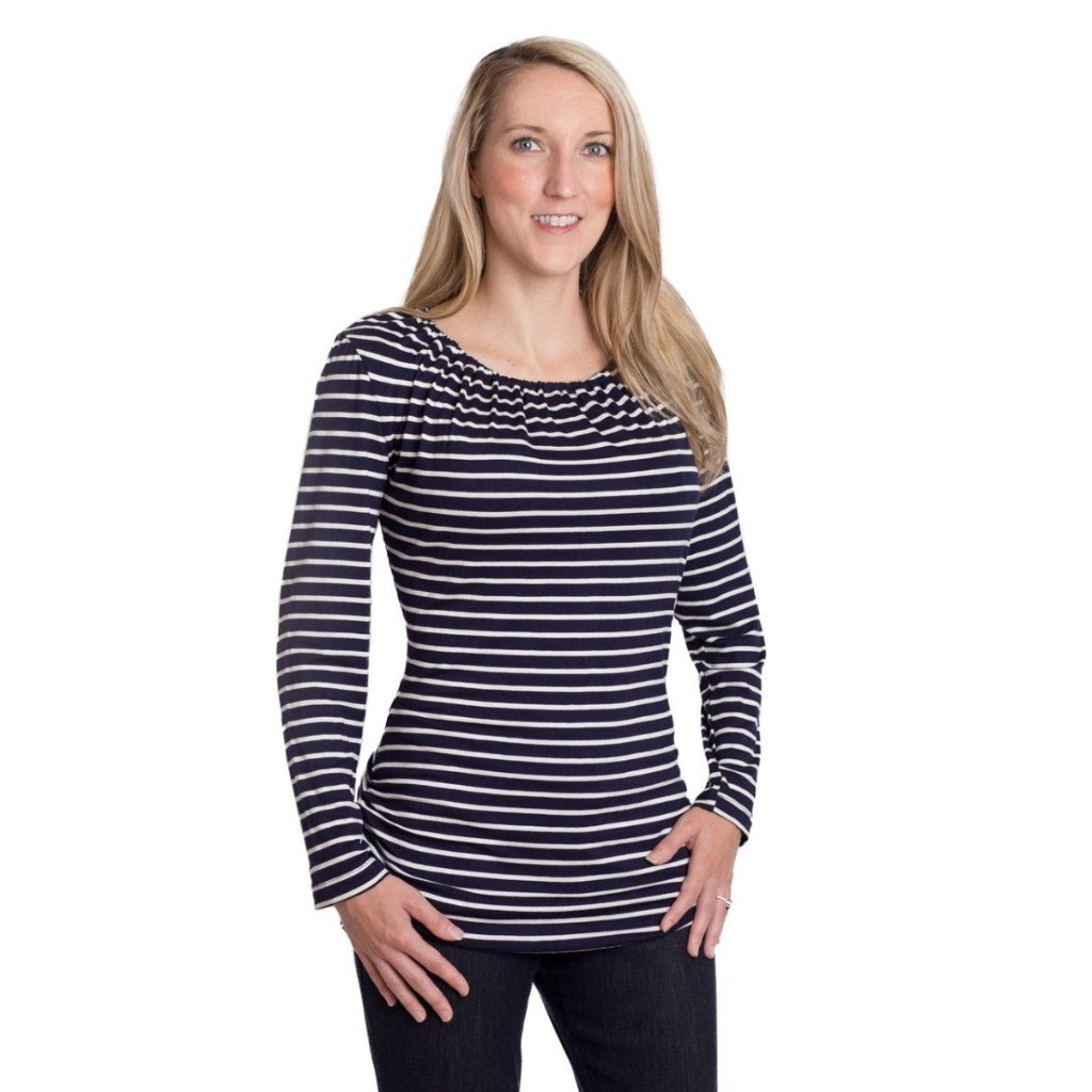 Luxe Long Sleeve Nursing Top - Udderly Hot Mama  - 2