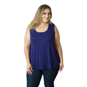 Plus size nursing top in navy by Udderly Hot Mama