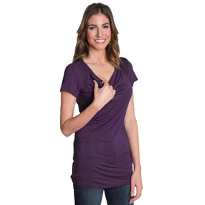 Cowl Nursing Top in Purple by Udderly Hot Mama