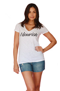 Nourish Tee for Charity by Udderly Hot Mama