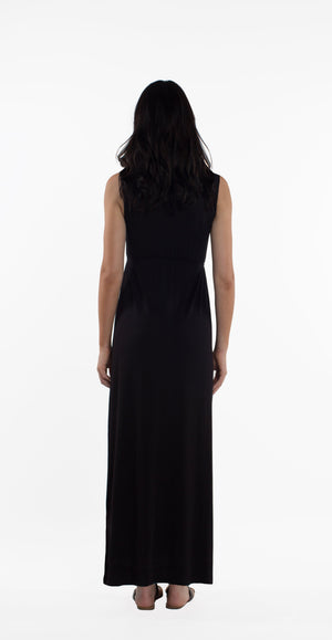 Maddie Maternity/Nursing Maxi Dress - Black