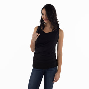 Maternity/Nursing Tank Top in Black by Udderly Hot Mama