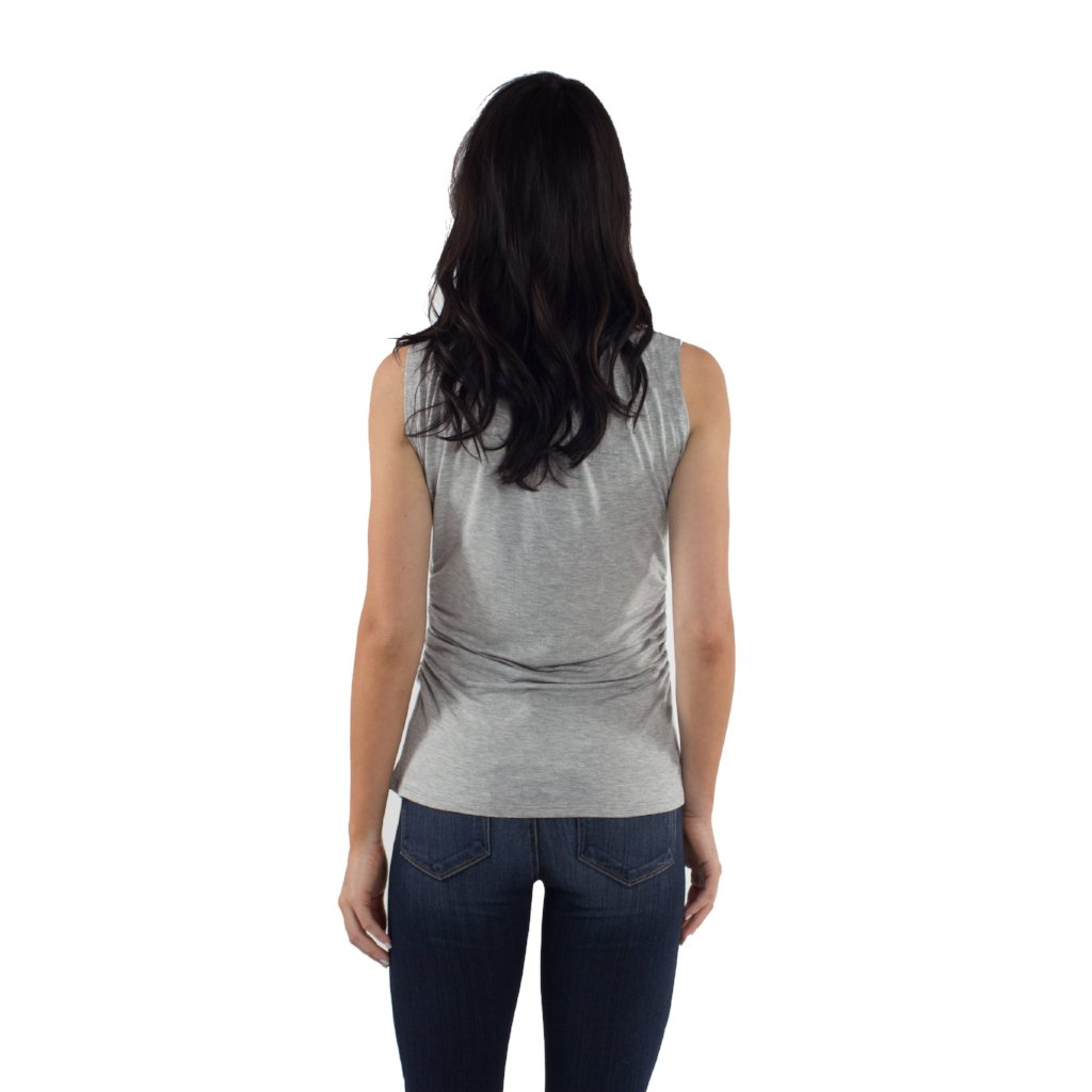 Taylor Maternity/Nursing Tank Top - Heather Gray