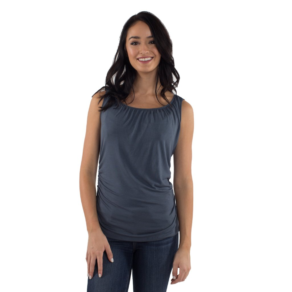 Maternity/Nursing Tank Top in Slate by Udderly Hot Mama