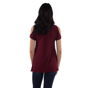 Chloe Maternity/Nursing Top - Bordeaux