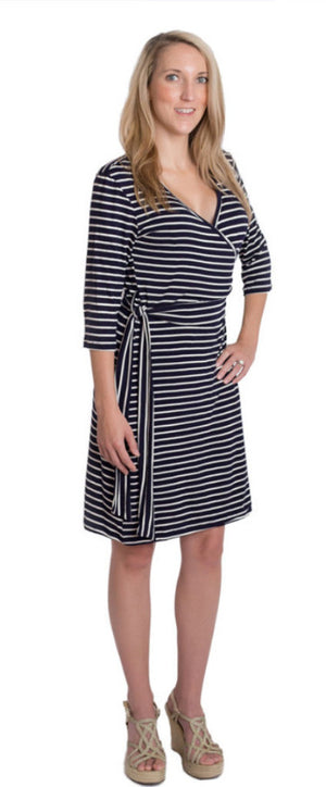 Whimsical Wrap Nursing Dress - Udderly Hot Mama  - 1