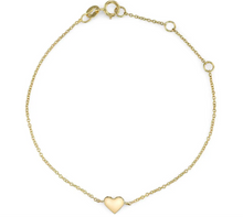 "Load image into Gallery viewer, ""Heart of Gold"" bracelet"