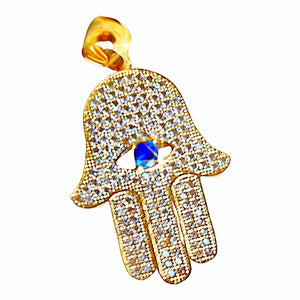Hamsa with blue eye