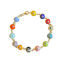 Load image into Gallery viewer, Colorful Eye bracelet