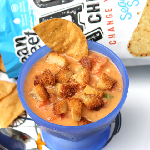 Gazpacho Recipe with Taco Chips