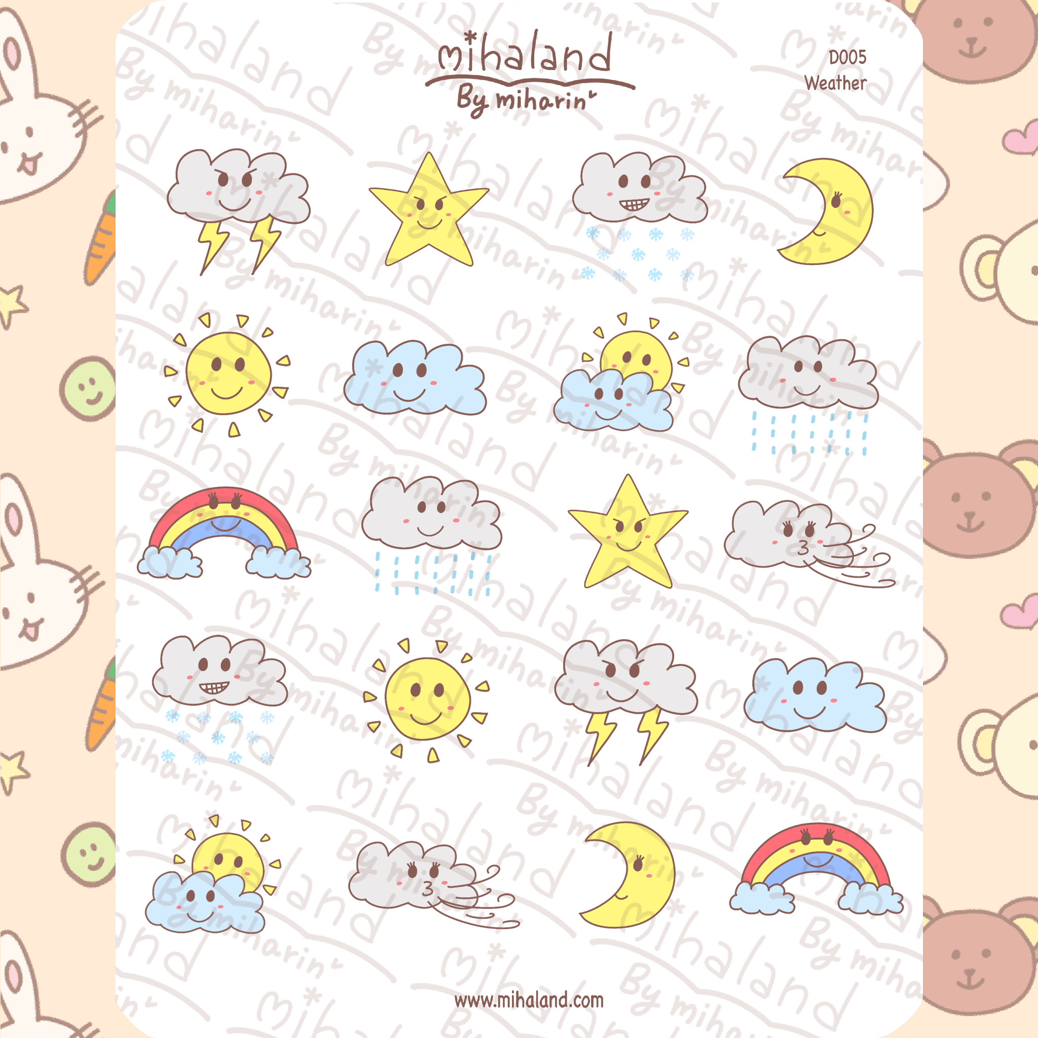 mihaland - Weather Planner Stickers (D005)