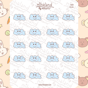 mihaland - Cloudy Planner Stickers (D008)