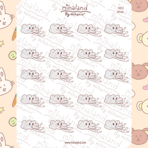 mihaland - Windy Planner Stickers (D010)