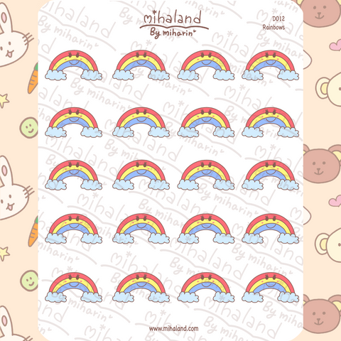 mihaland - Rainbow Planner Stickers (D012)