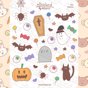 mihaland - Halloween Planner Stickers (D016)