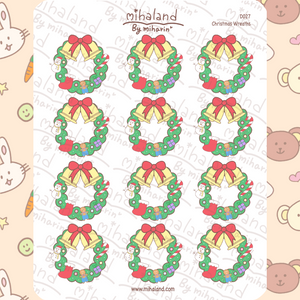 mihaland - Christmas Wreaths Planner Stickers (D027)