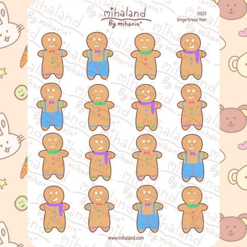 mihaland - Gingerbread Men Planner Stickers (D029)