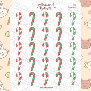 mihaland - Candy Canes Planner Stickers (D030)