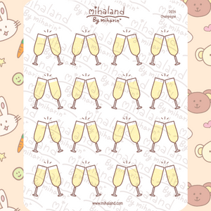 mihaland - Champagne Planner Stickers (D036)