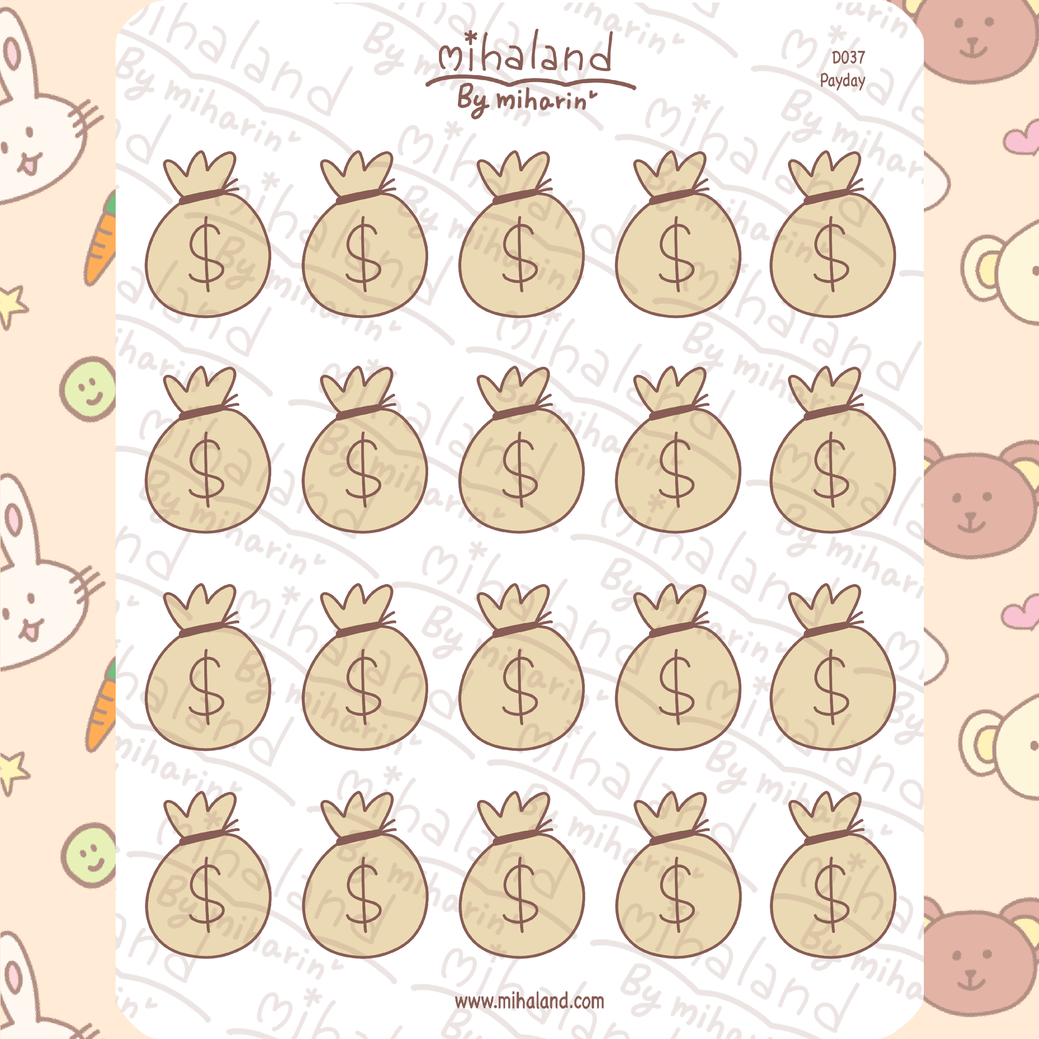 mihaland - Payday Planner Stickers (D037)