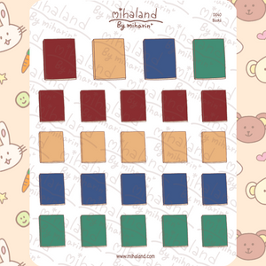 mihaland - Books Planner Stickers (D040)