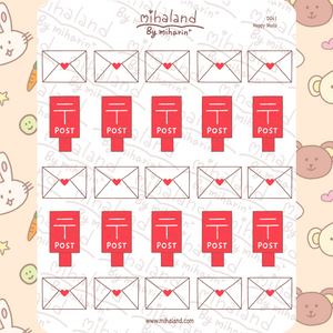 mihaland - Happy Mails Planner Stickers (D041)