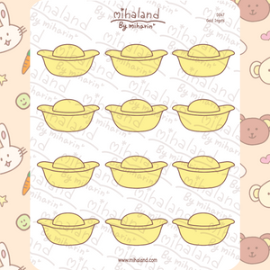 mihaland - Gold Ingots Planner Stickers (D047)