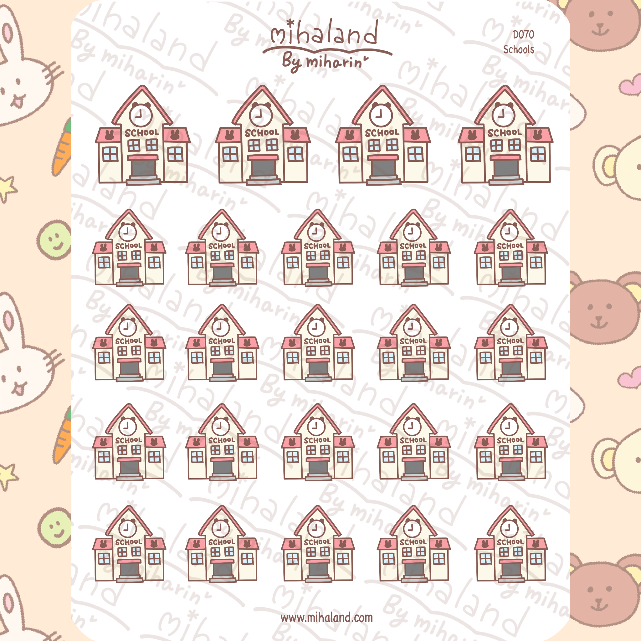 mihaland - Schools Planner Stickers (D070)