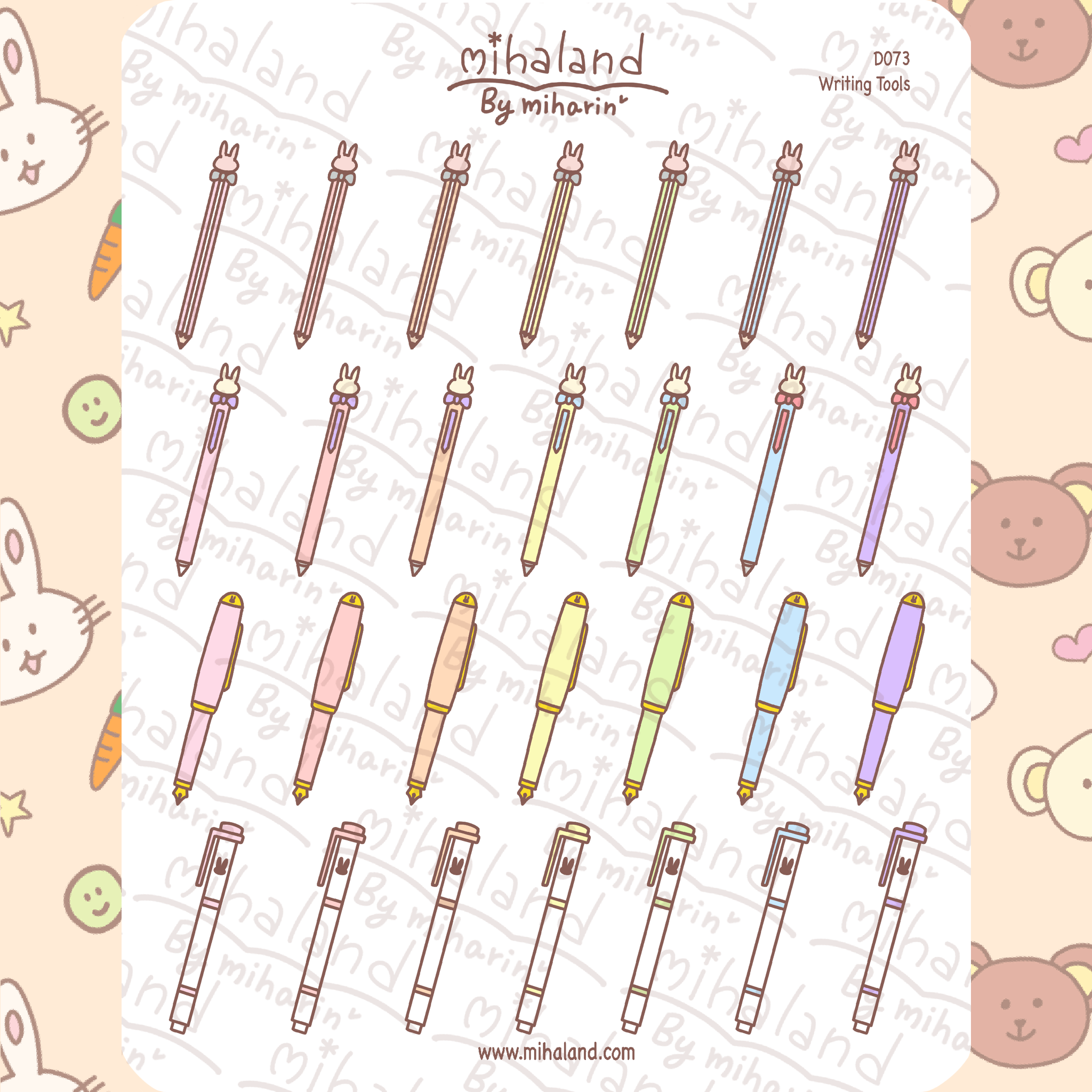 mihaland - Writing Tools Planner Stickers (D073)