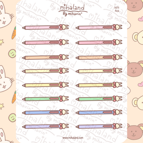 mihaland - Pens Planner Stickers (D075)
