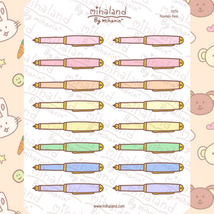 mihaland - Fountain Pens Planner Stickers (D076)