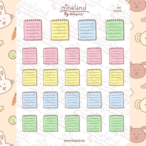 mihaland - Notepads Planner Stickers (D081)