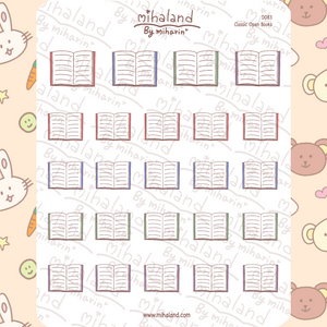 mihaland - Classic Open Books Planner Stickers (D083)