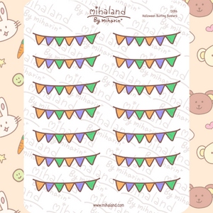 Halloween Bunting Banners Planner Stickers (D086)