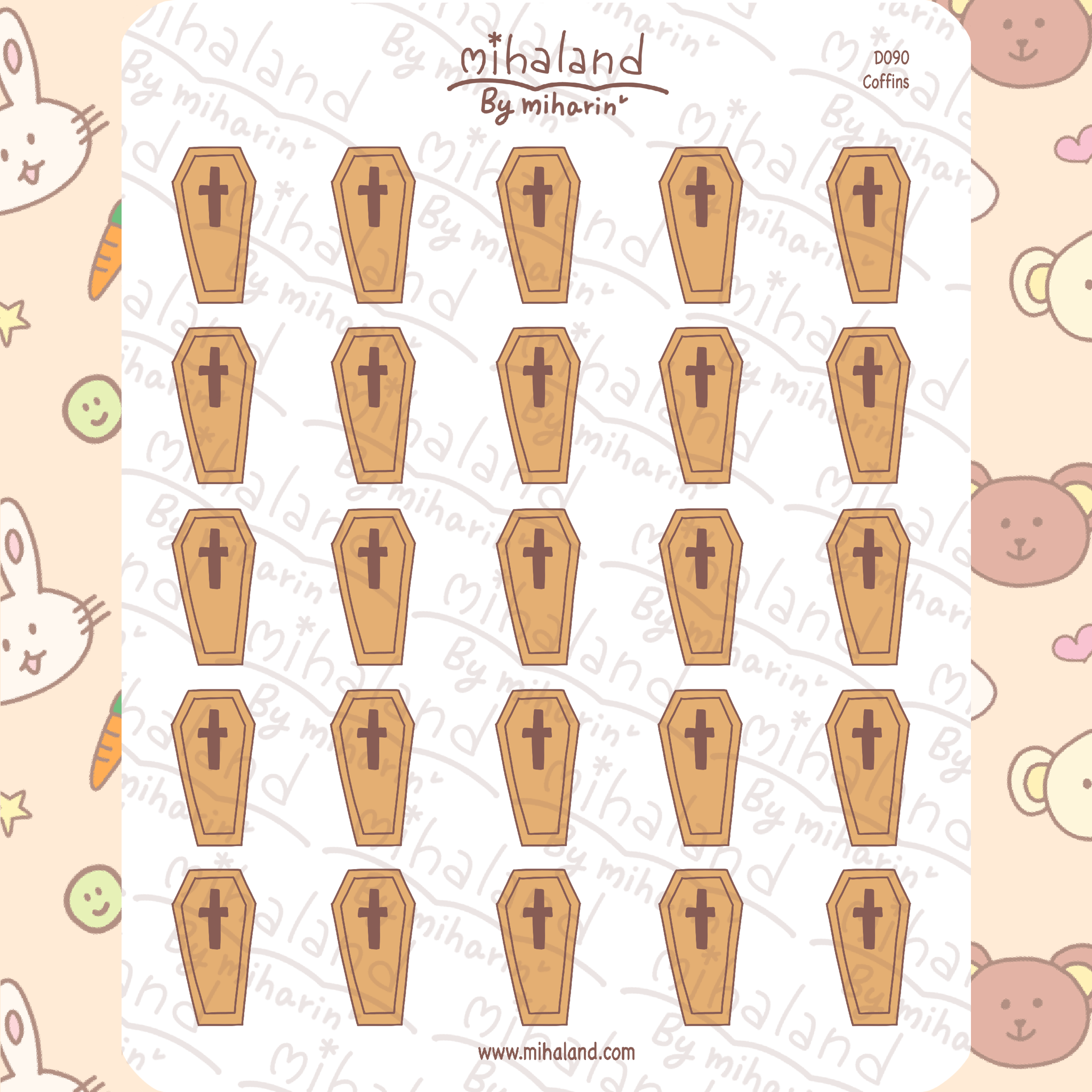Coffins Planner Stickers (D090)