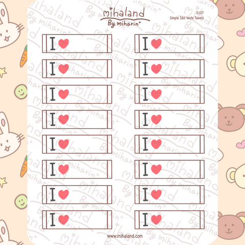 Simple Idol Wota Towels Planner Stickers (D107)