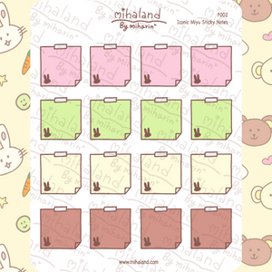mihaland - Iconic Miyu Sticky Notes Planner Stickers (F002)