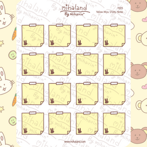 mihaland - Yellow Miyu Sticky Notes Planner Stickers (F005)