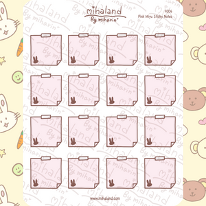 mihaland - Pink Miyu Sticky Notes Planner Stickers (F006)