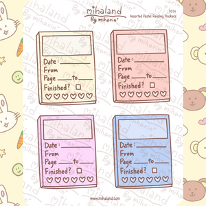 mihaland - Assorted Pastel Reading Trackers Planner Stickers (F014)