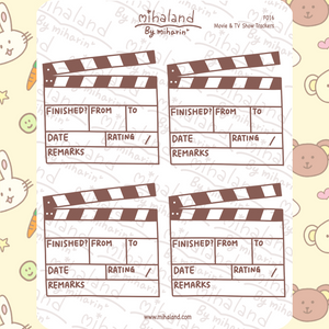 mihaland - Movie & TV Show Trackers Planner Stickers (F016)