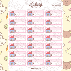 Pink Rent Trackers Planner Stickers (F037)
