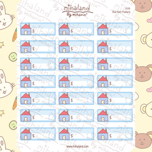 Blue Rent Trackers Planner Stickers (F039)