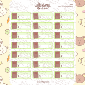 Green School Fees Trackers Planner Stickers (F055)