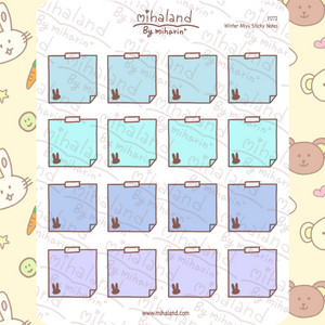 Winter Miyu Sticky Notes Planner Stickers (F072)