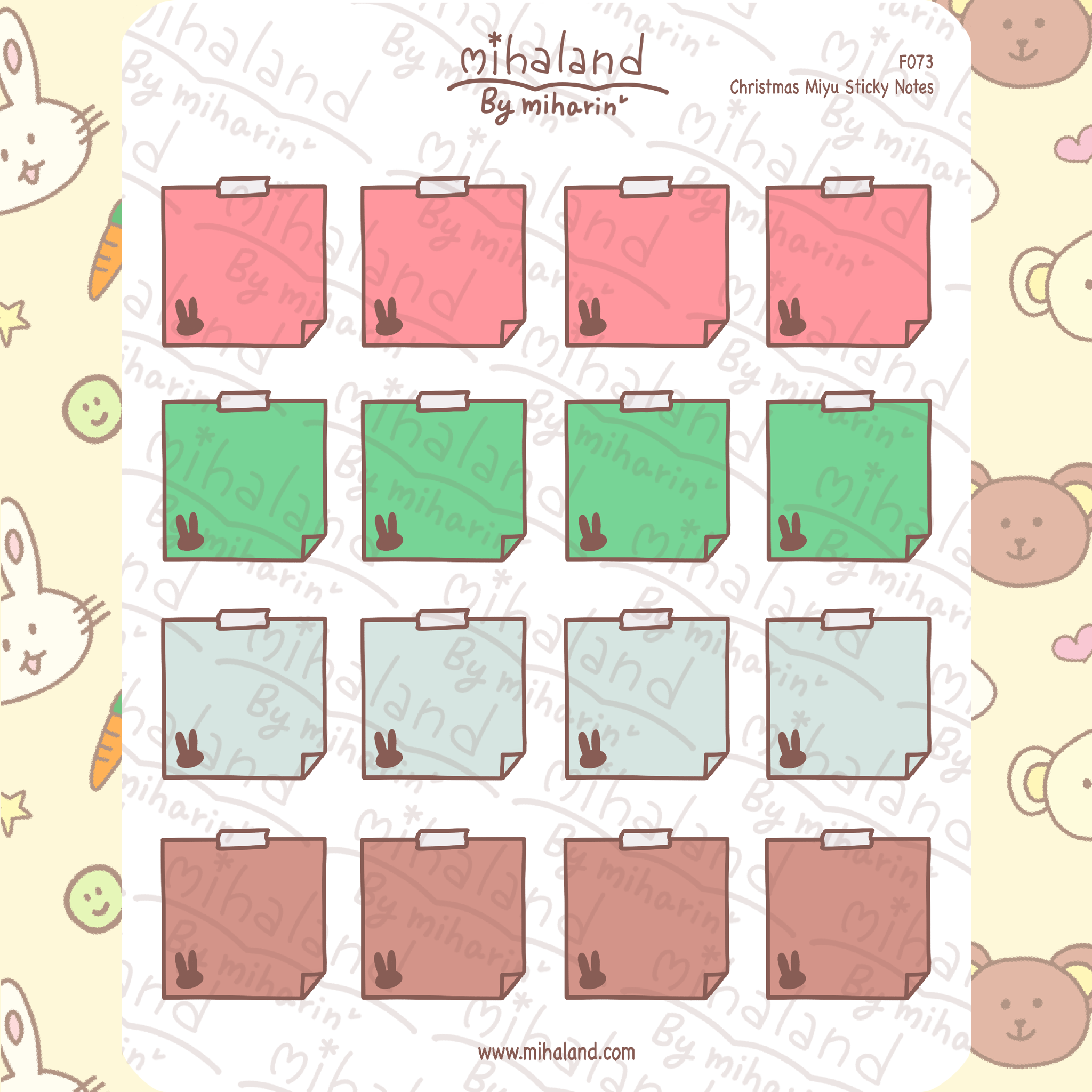 Christmas Miyu Sticky Notes Planner Stickers (F073)