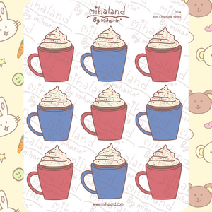 Hot Chocolate Notes Planner Stickers (F074)
