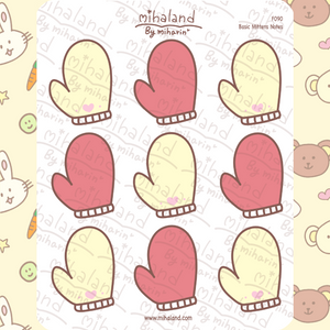 Basic Mittens Notes Planner Stickers (F090)